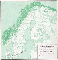 """Karta från """"Den virtuella floran"""". Kartan visar kal knipprot utan hänsyn till underarter."""