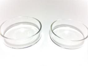 Foderskål, glas 2 pack -