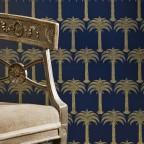 Barneby Gates - Marrakech Palm - Midnight Blue - Detail-2