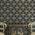 Barneby Gates - Honey Bees - Gold on Charcoal - Set Shot
