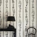 BARNEBY GATES - Chairs - Set Shot 2 - Black on Parchment