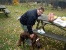 101030 Rosa med Joakims hund