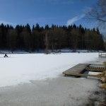 Fint här vid Tollerupsjön även vintertid