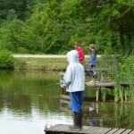 Fiskande ungdomar