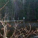 Långeman fylld med flugfiskare