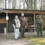 Roffe, Micke och Anders övervakar fisket