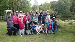 140624 Sportfiskarna ungdom på besök.