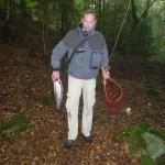 Martin med fisk på över 2 kg