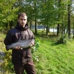 Fredrik med fin fisk