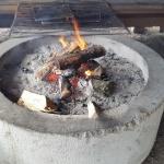 En grill behövs en kall dag som denna.