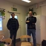Magnus till vänster nya kassören, bredvid Michael gamla kassören.