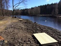 Nya bryggor runt Tollerupsjön
