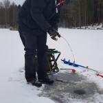 Michael Hansson med fisk på kroken