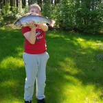 Junior fick också fisk