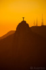 Sunset over Christ Redeemer, Rio de Janeiro
