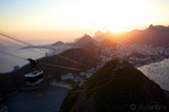 Sunset view from the Sugarloaf Mountain, Rio de Janeiro