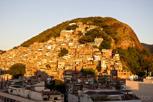 Favela during sunrise, Rio de Janeiro