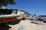 Fishing boats at Copa Cabana, Rio de Janeiro