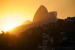 Sunset over the favelas, Rio de Janeiro