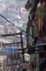 Street view in the Rocinha favela, Rio de Janeiro