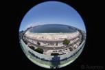 Copa Cabana in fish eye view, Rio de Janeiro