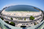 Copa Cabana in fish eye perspective, Rio de Janeiro