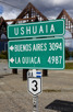 Road sign at the end of the world, Ushuaia