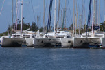 Catamarans at Marigot,  Saint Martin
