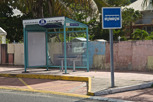 Bus stop at Marigot, Saint Martin
