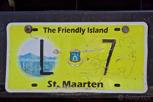 Licence plate, Sint Maarten