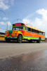 Colorful bus at Curacao