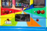 Colorful bus at Willemstad, Curacao