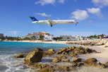 Insel Air McDonnell Douglas MD80 on approach to Princess Juliana Airport, Sint Maarten