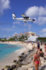 Winair De Havilland Twin Otter over Maho Beach, Sint Maarten