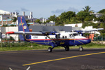 Winair De Havilland Twin Otter about to depart from Princess Juliana Airport, Sint Maarten
