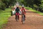 Locals on the ride at Angkor Thom