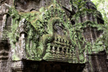 Temple details in Ta Prohm, Siem Reap
