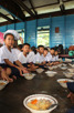 School lunch in the floating village at Chong Kneas, Tonlé Sap Lake