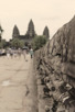 Tourists walking the Causeway at Angkor Wat, Siem Reap