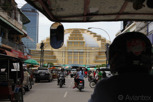 Tuk-tuk ride to the Central Market building, Phnom Penh