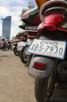 Parked vespas, Phnom Penh