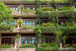 Beautiful exterior of an apartement building, Phnom Penh