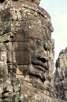 Enigmatic stone face at Bayon, Angkor Thom