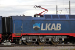The LKAB train transporting iron from the mine in Kiruna, Norrland