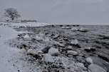 Cold and icy beach outside Visby, Gotland