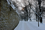 The City Walls of Visby during winter, Gotland