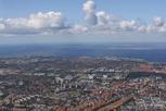 Malmö and the Öresund bridge from above