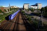 "The local county train in Scania called ""Pågatåg"", Helsingborg"