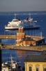 A Scandlines ferry at Helsingborg harbor