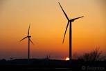 Wndmills during sunset, Landskrona